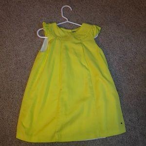 Tommy Hilfiger 4T lime girls dress